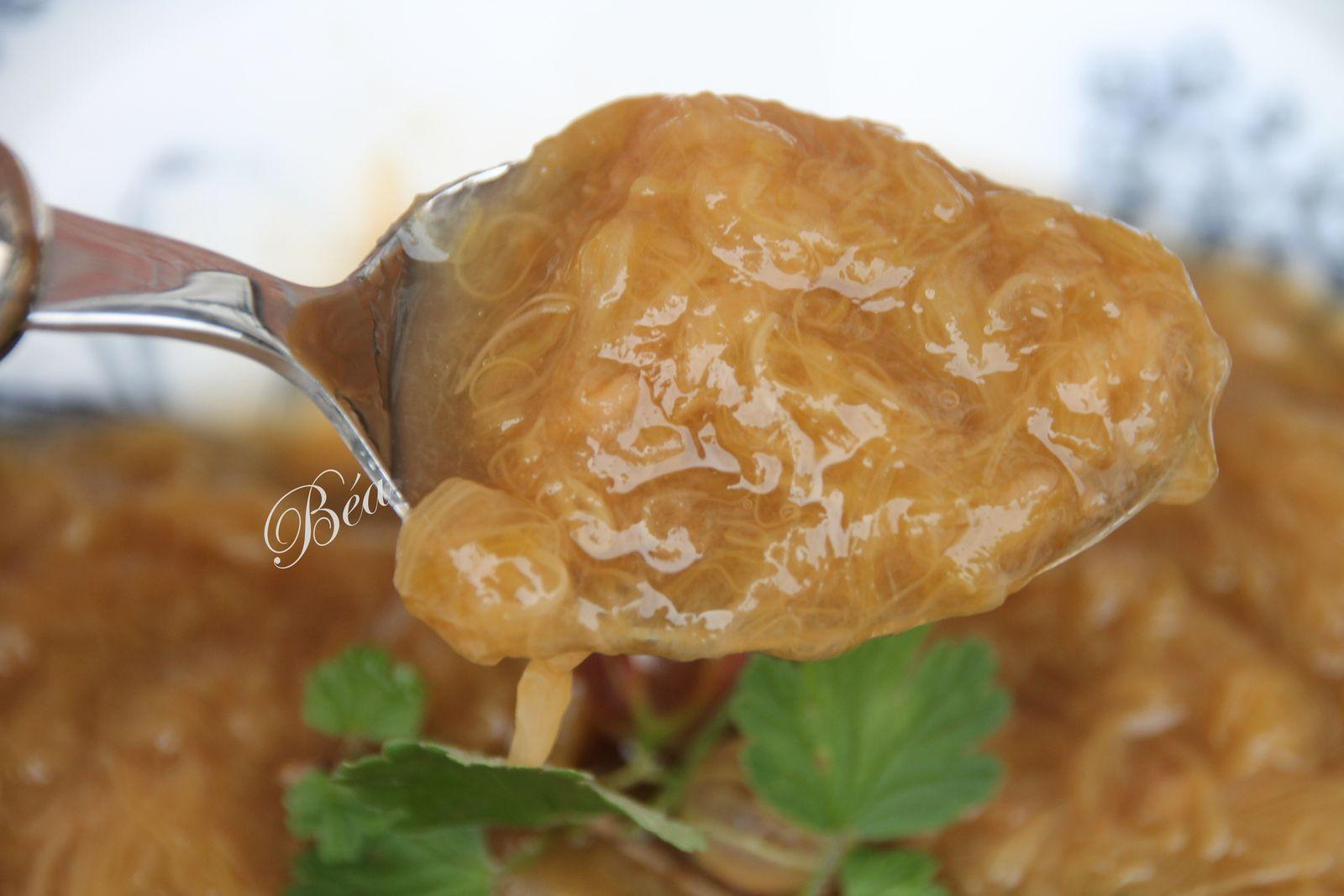 Compote à la rhubarbe et au gingembre