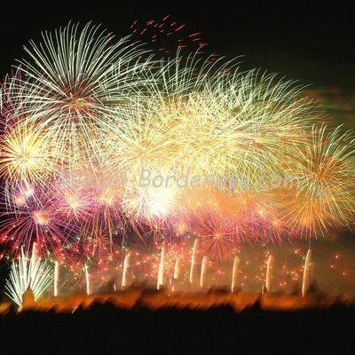 Carcassonne : Feu d'artifice et embrasement de la cité, 14-Juillet 2015