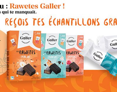 Echantillons gratuits de Rawetes Galler