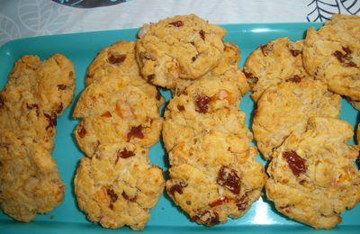 Cookies aux crevettes et tomates séchées