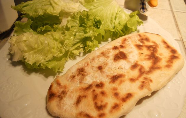 Naans bacon champignons fromage