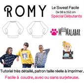 Patron Sweat Shirt Enfant Ado Romy Cousu Main - La Boutique de Viny