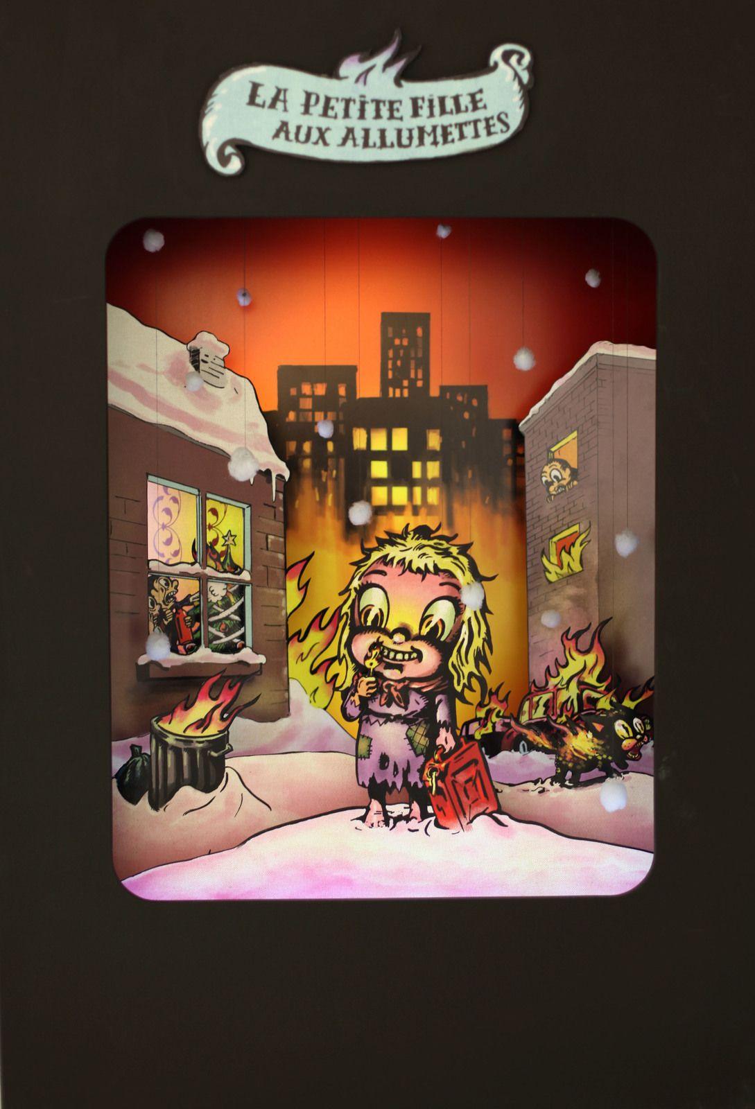 """""""La petite fille aux allumettes"""", 2013 de WINSHLUSS - Courtesy de l'artiste et la Galerie Georges-Philippe et Nathalie Vallois © Photo Éric Simon"""