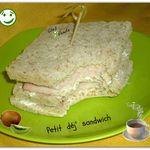 Petit déj' sandwich ....pour  1 pers