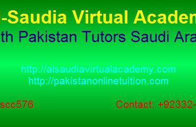 Math Pakistani Tutors Saudi Arabia