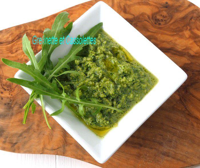 Pesto de Courgette à la Roquette