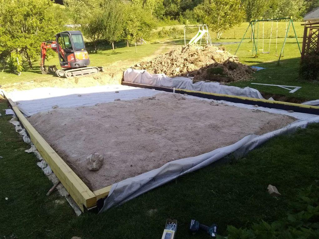Aménagement d'une plateforme pour une piscine