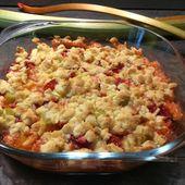 Crumble fraises rhubarbe - Popote de petit_bohnium