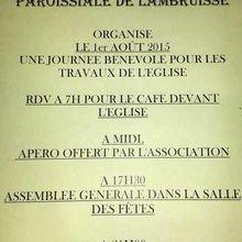 Loto à Lambruisse organisé par l'Association de sauvegarde  du patrimoine.