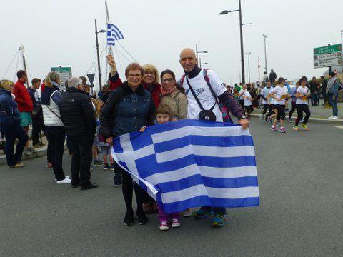 Michalis au Marathon du Mont Saint-Michel