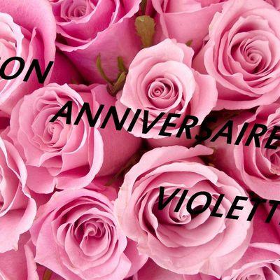 BON ANNIVERSAIRE - Violette