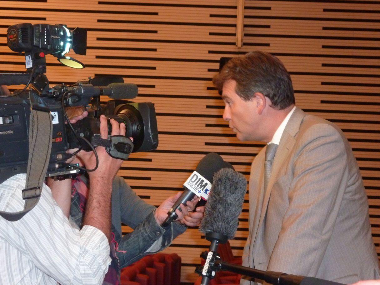 Arnaud Montebourg, lors d'un colloque à Paris sur la mondialisation, le 30 août 2011