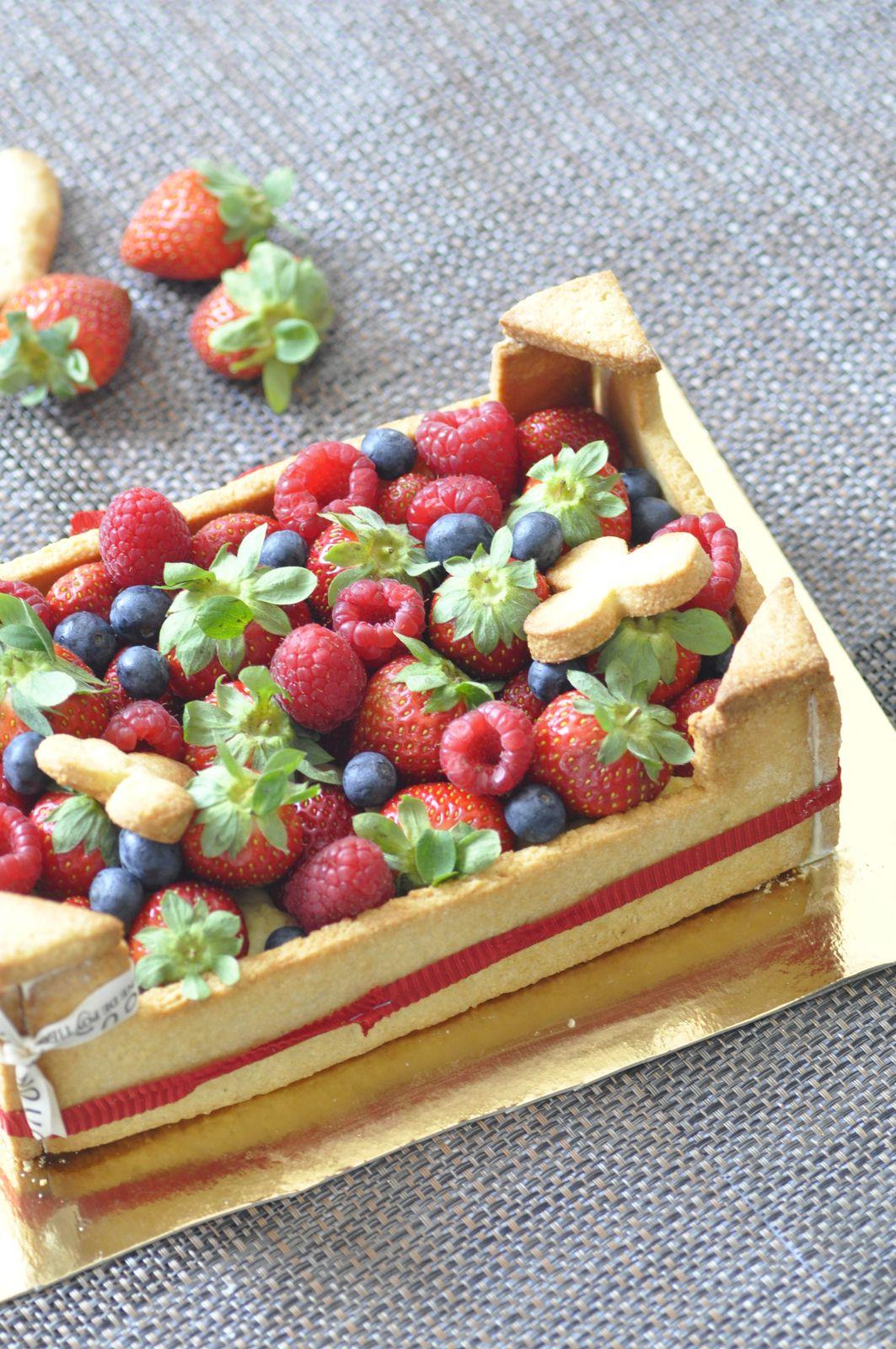 Tarte cagette aux fraises