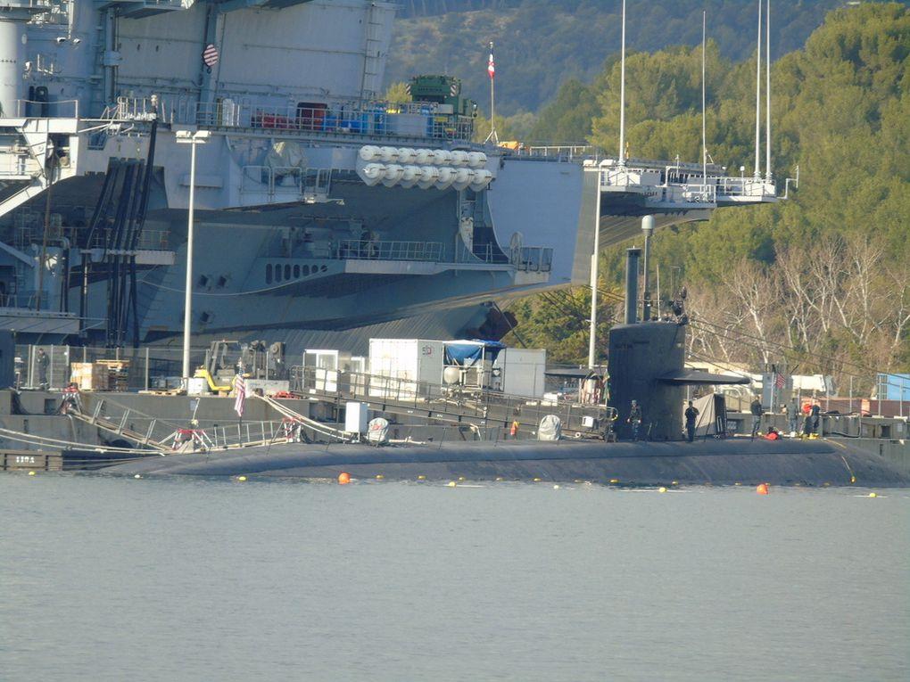 PITTSBURGH  SSN 720 , sous marin de la marine américaine à quai à Toulon le 30 décembre 2016