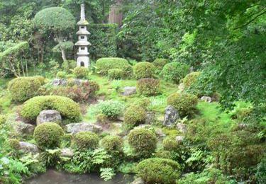 O'Hara (2) 大原 : Sanzen-In 三千院 et ses étranges bonhommes moussus à fleur de terre