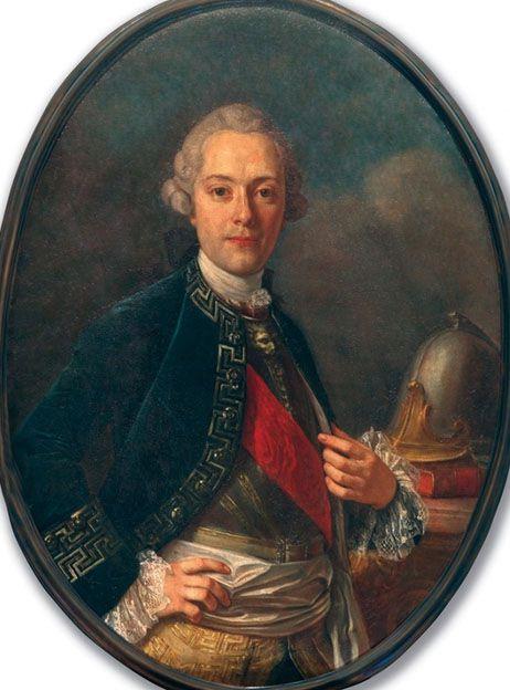 Vincenzo di Sangro (1743-1790 , huile sur toile. Ce portrait fut longtemps considéré à tort comme celui de son père. Volé en 1990, il fut retrouve l'année suivante.