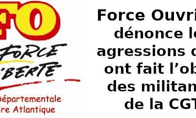 Message de solidarité à Fabrice David - secrétaire général de la Cgt-44