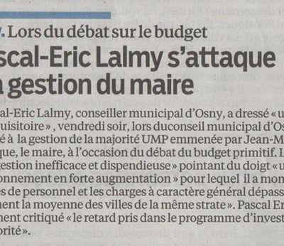 Pascal-Eric Lalmy s'attaque à la gestion du maire