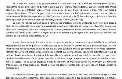 Déclaration préalable FOCom CSE DO GSE 24/09/2020