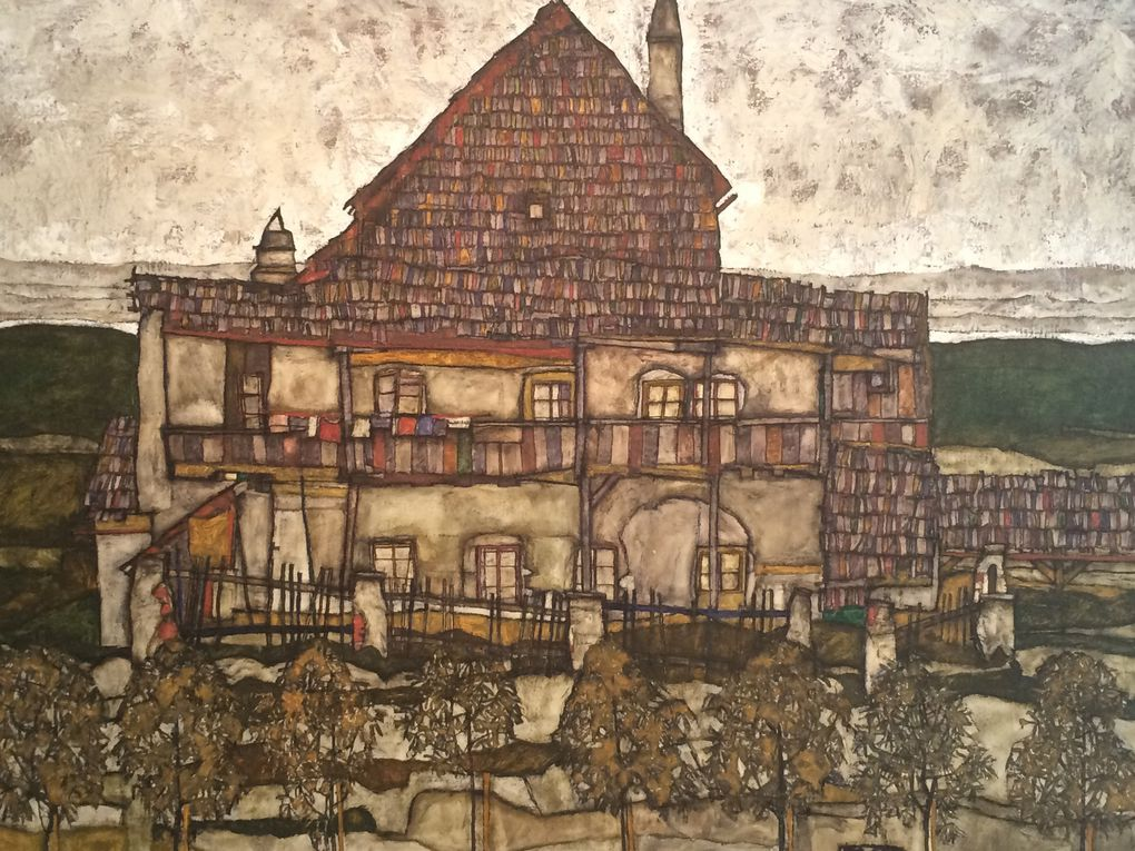 Schiele :: paysages (ville de Krumau) et portraits