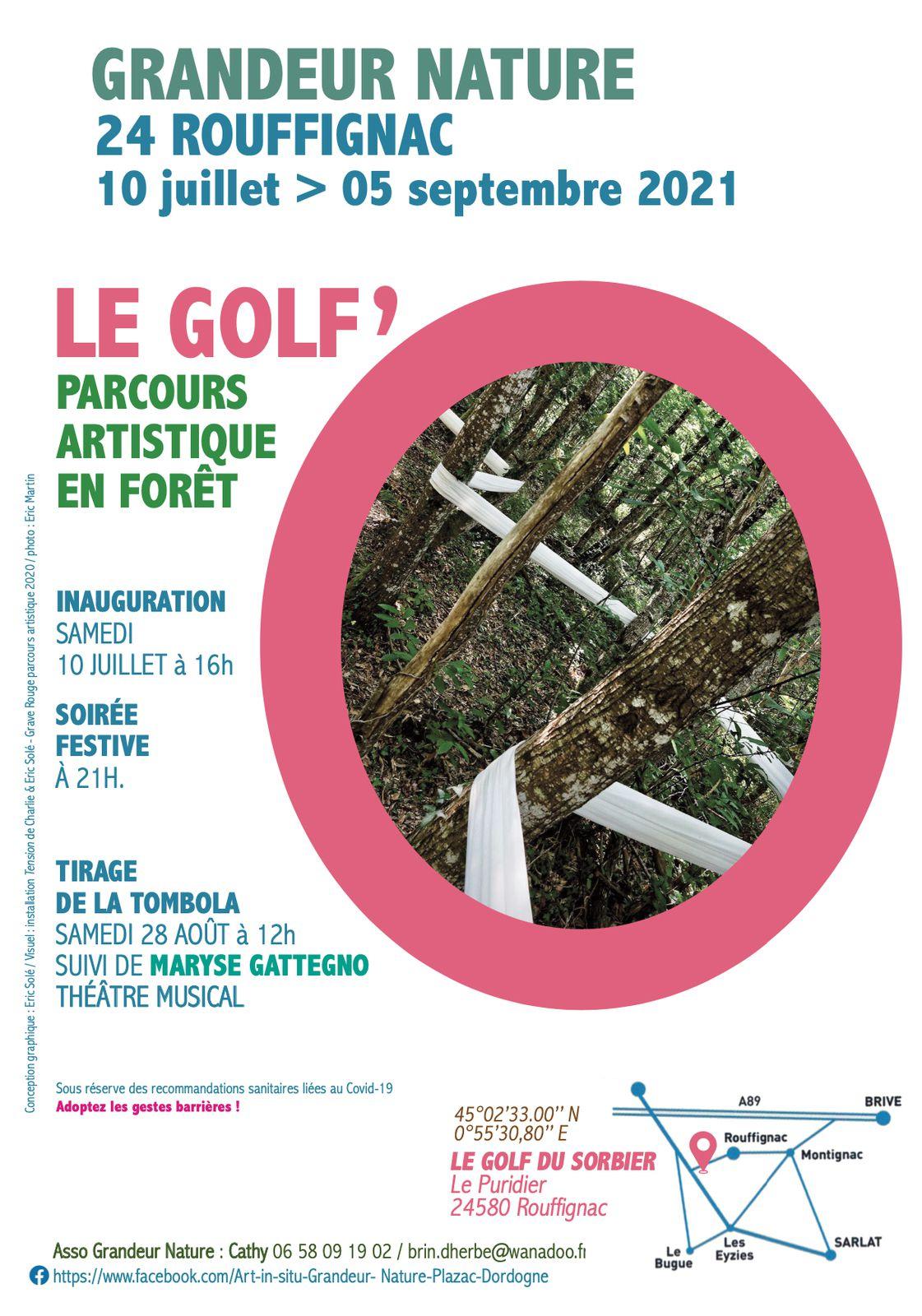 Inauguration du Parcours d'artistes 2021 au Golf'O à Rouffignac (24) le 10 juillet
