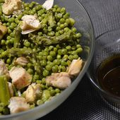 Salade petits pois asperges poulet cookeo |
