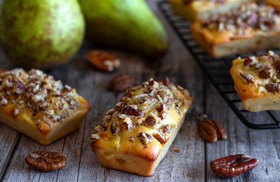 Mini cake à la poire et noix de Pécan