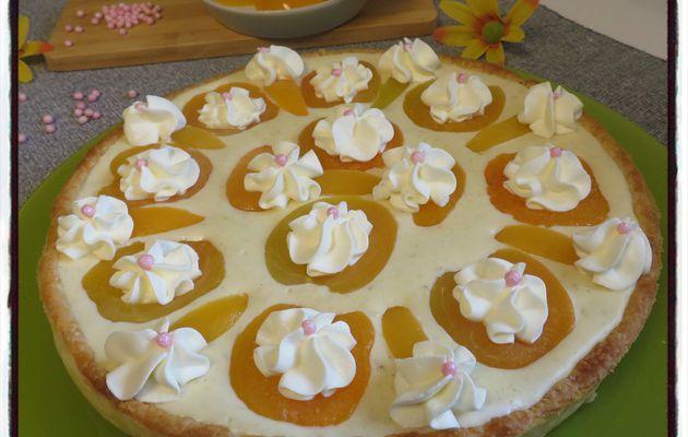Tarte mousseline aux abricots