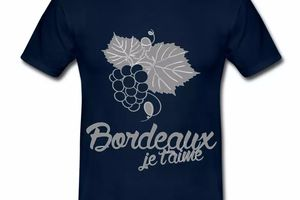T-Shirt Bordeaux 33 je t'aime, Vin & raisin BM