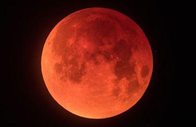 Super lune de sang, dans la nuit du 20 au 21 janvier 2019 !
