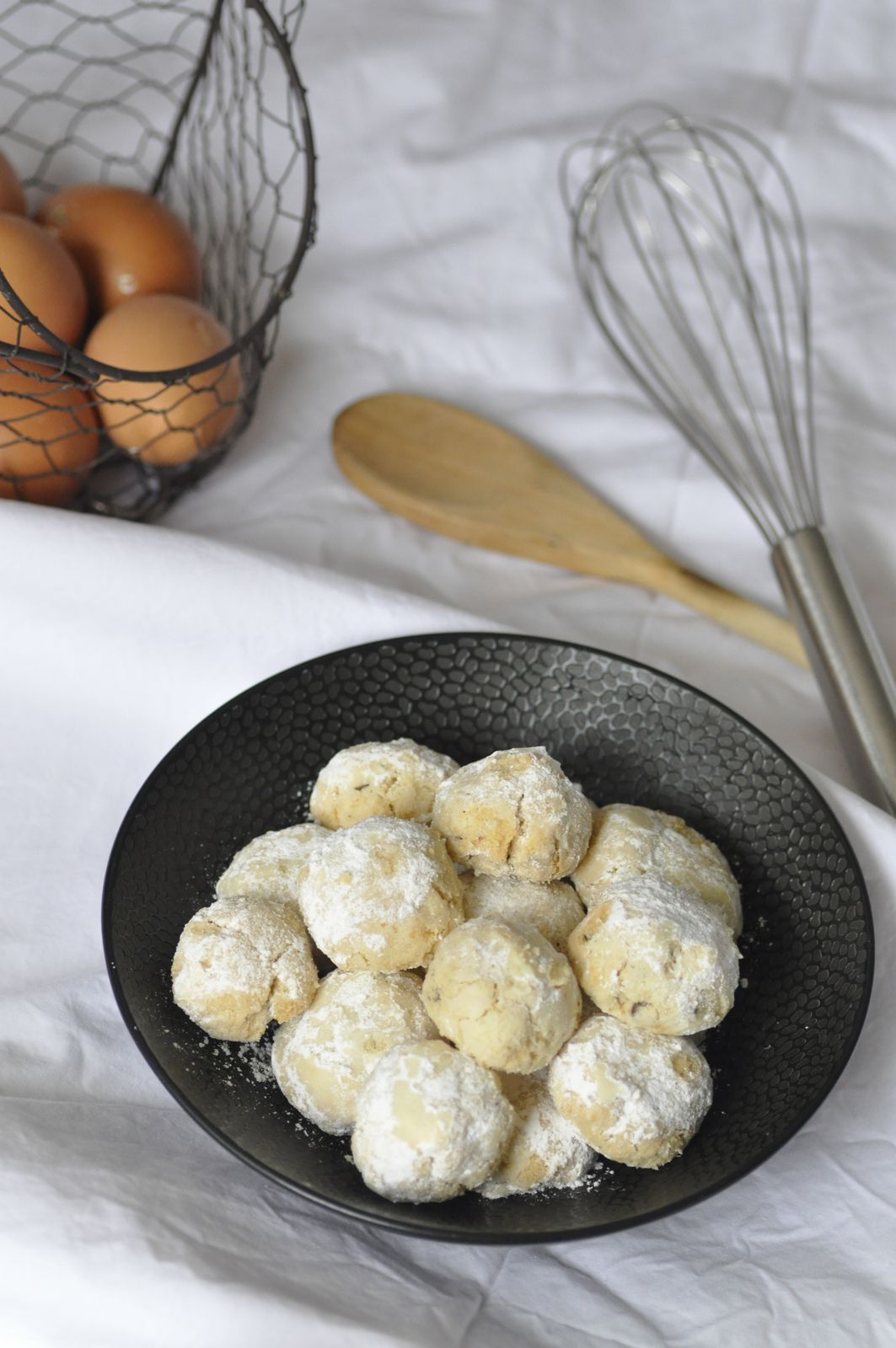 Russian tea cookies ou biscuits boules de neige