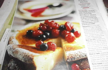 le cheese-cake aux fruits rouges