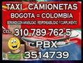 taxi camionetas servicio camionetas Bogota Colombia