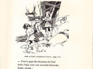 """J.-H. Rosny aîné """"Le Félin géant"""" (Gedalge - 1954)  [Grand cartonnage écru + jaquette illustrée]"""