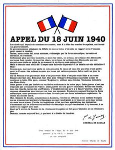 Saint-Affrique : 74eme anniversaire de l'appel du 18 juin
