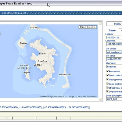 A Javabean to handle Google Maps
