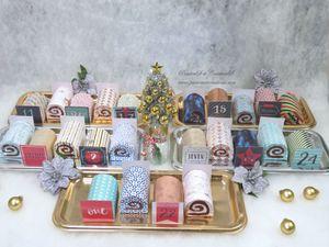 Calendrier - Avent - 2020 - Fait Main - Fait Maison - Noel - Christmas - Mini - Buches - Cadeaux - Friandises - Neige - Gourmandises