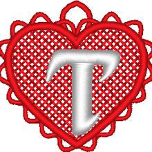 ABC cœur dentelle: la lettre T
