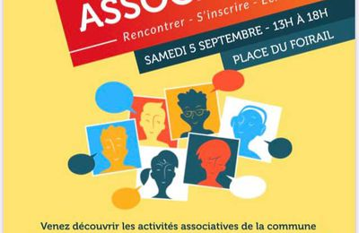 Massiac : samedi 5 septembre de 13h à 18h pour le premier FORUM des ASSOCIATIONS.