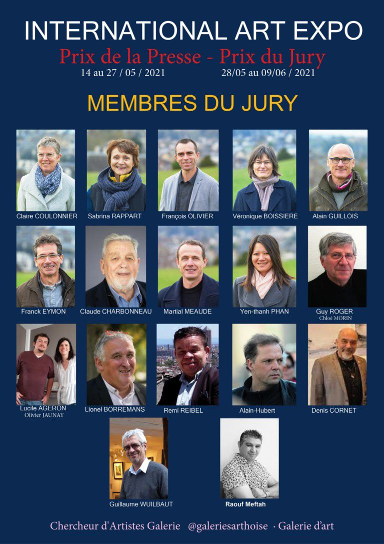 INTERNATIONAL ART EXPO : LES MEMBRES DU JURY