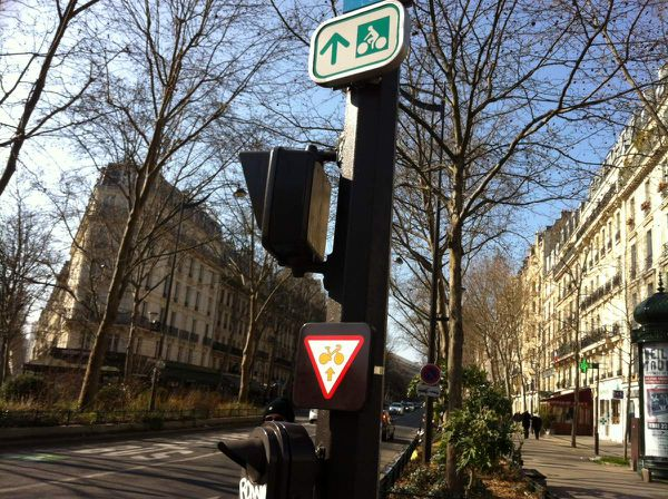 Trafic sign for cycle