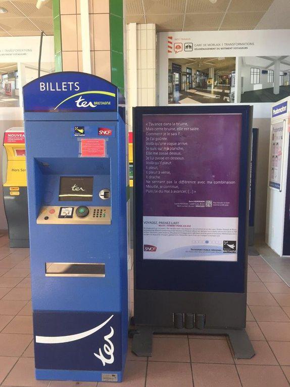 Gares de Landerneau et de Morlaix