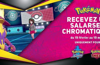 Pokémon Épée et Pokémon Bouclier – Recevez un Salarsen chromatique