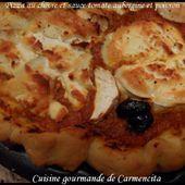 Pizza au chèvre sauce tomate aubergine-poivron - Cuisine gourmande de Carmencita