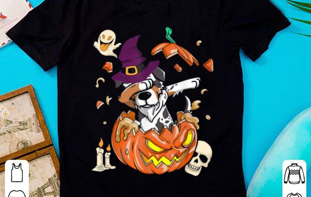 Hot Australian Shepherd Dog Pumpkin Halloween Gifts shirt