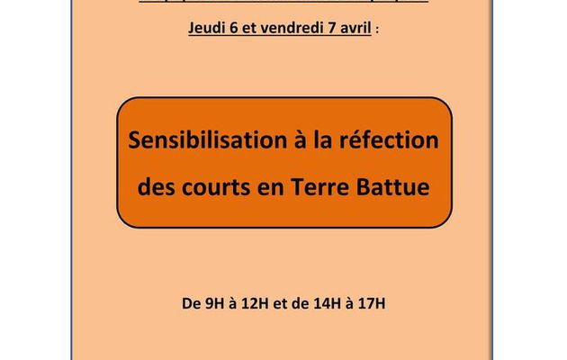 SENSIBILISATION REFECTION DES COURTS