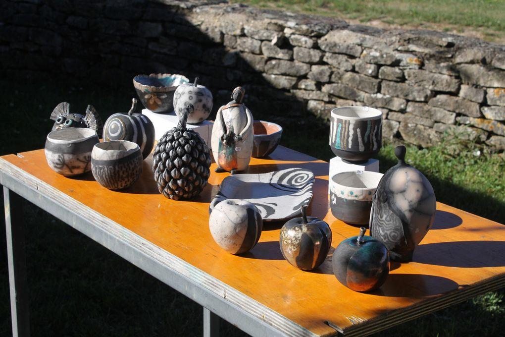 Cuisson raku et tirages de la Pot' loterie lors du WE Balad'ART 2017