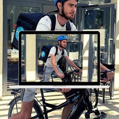 Service de livraison Rapidle en vélos électriques en test à Fontainebleau