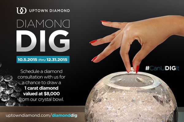 Schedule a diamond consultation with us for a chance to draw a 1 carat diamond valued at $8,000.