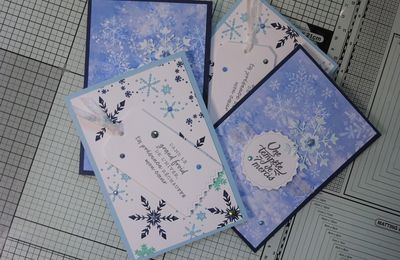 [Stampin'Up!®] collection Tout en Flocons: 2 exemples de carte